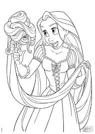 coloring pages rapunzel colouring pages