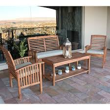 Faux Wood Patio Furniture Unique Acacia Wood Outdoor Dining Set