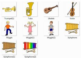 String instruments accessories with metal rock illustration of tribal octopus. Musical Instruments Names With Names And Pictures Online Dictionary For Kids