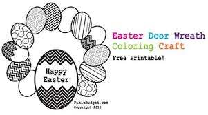 Coloring Pages Easter Wreath
