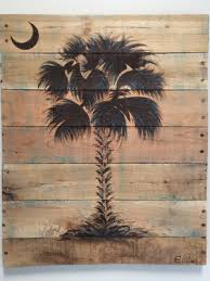 sc palmetto tree palm tree wall art available in custom sizes and colors reclaimed pallet wood beachy wall art beachy decor on wood palm tree wall art with sc palmetto tree palm tree wall art available in custom sizes