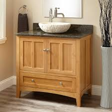 Bamboo Bathroom Cabinets 36 Evelyn Bamboo Vessel Sink Vanity Bathroom
