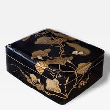 Document Boxes Decorative Gyokuho A Large Japanese Black And Gilt Lacquer Document Box Bunko 56