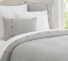 navy wheaton stripe linen cotton blend patterned duvet cover sham pottery barn
