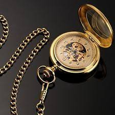 mens gold pocket watches pocket watch chain gold fob watches mechanical movement mens gift for him