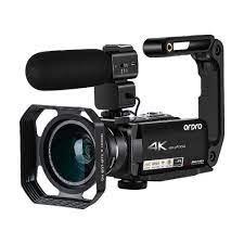Video kamera 4K kamera Blogger canlı akış filme Ordro AC7 10X optik Zoom  YouTube vlog kamera Filmadora|Consumer Camcorders