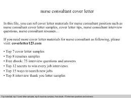 Example Of A Cover Letter For Nursing Nurse Consultant Cover Letter