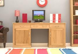 hidden desk furniture. Conran Solid Oak Hidden Home Office Twin Pedestal Desk Furniture