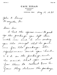 Letter to John A. Lomax Merryville, La., including a receipt for package  delivery | Library of Congress