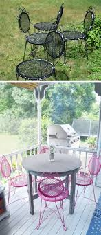 outdoor furniture makeover using spray paint