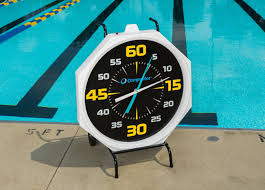 outdoor pool clock and thermometer designs