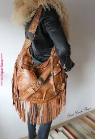 rusted brown boho leather bag fringe bohemian for free people with gypsy soul sweetsmokebags