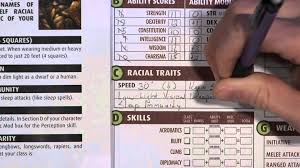 character sheet pathfinder pathfinder character creation walk through youtube