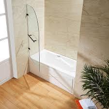 vigo orion clear curved bathtub door in antique rubbed bronze com