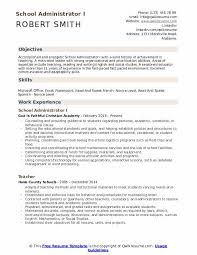 Skills And Experience Resumes School Administrator Resume Samples Qwikresume