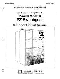 square d archives ecp solutions ecp solutions Basic Electrical Wiring Diagrams 6035 1 metal enclosed low voltage drawout power zone iii pz switchgear with ds dsl circuit breakers manual square d