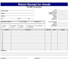Proof Of Receipt Template Return Receipt Templates For Goods Receipt Template Free