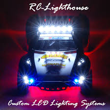 lighting sets. this custom set is mounted on a traxxas slash 18th scale shortcourse vehicle most sets are universal and will fit other models lighting
