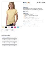 Next Level Kids Size Chart Next Level 6510 Youth Princess Poly Cotton Burnout Tee