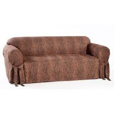 cool couch cover ideas. Leopard Print Box Cushion Sofa Slipcover Classic Slipcovers 2018 Online Cool Couch Cover Ideas