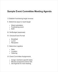 Agenda For Meetings Format Free 9 Committee Agenda Examples Samples In Pdf Doc