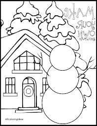 Winter Color Page Free Winter Coloring Sheets For Preschoolers