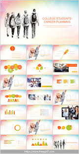 College Ppt Templates College Students Career Planning Powerpoint Template_best