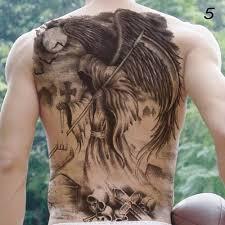 B Top Dočasné Tetování Na Záda černá Glamicz