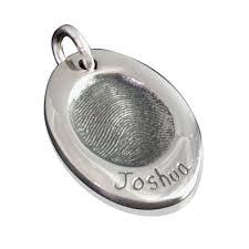925 sterling silver fingerprint oval pendant the name jewellery