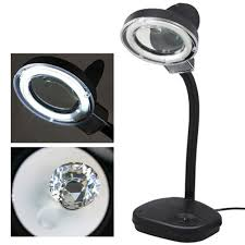desk magnifier lamp jeweler watch repair magnifying glass loupe work light 5 10x
