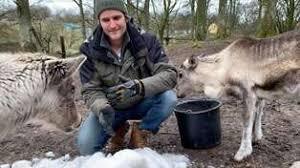Här bjuds djuren på djurparken på snö