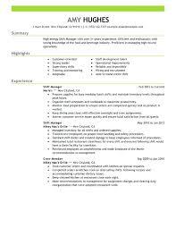 Restaurant General Manager Resume Resume Sample Restaurant Manager