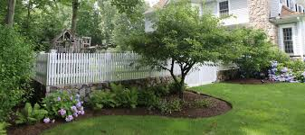picket fence double gate. Wood-picket-fence-and-double-gate-by-atlas-outdoor-ct(4) Picket Fence Double Gate