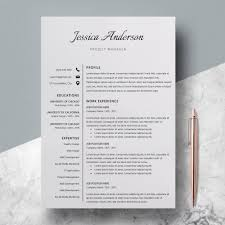 Modern Resume Template Windows Elegant Resume Template Modern Cv Template Jessica Anderson