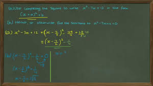 solving quadratic equations using completing the square core 1 edexcel a level maths you