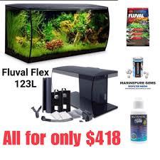 Fluval Flex Light Timer Fluval Flex Aquarium Kit 123 L 32 5 Us Gal Black With