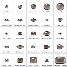Cabochon Size Chart China Epoxy Cats Eye Iron On Cabochon Suppliers Custom