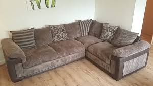 dfs chalice brown left facing corner sofa swivel chair and footstool