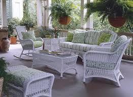 white wicker porch furniture. Wonderful White Coastal White Wicker Patio Furniture Set With Matching Coffee Table Inside White Wicker Porch Furniture O