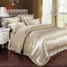 home textile light gold jacquard bedding set cotton tencel duvet cover bedding sheet pillowcase total 4pcs queen king sizesp1352 in bedding sets from home