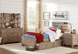 Montana Driftwood 5 Pc Twin Panel Bedroom - Teen Bedroom Sets Light Wood