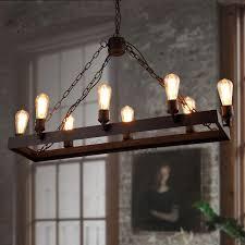 rustic 8 light wrought iron style lighting fixtures
