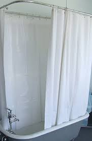 extra wide vinyl shower curtain for a clawfoot tub white with magnets 180