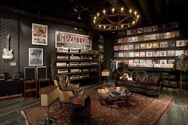 Rock and Relax Man Cave Decor - reminds me of Grooves record store in That  70s