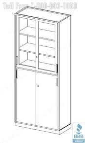 office bookcase with doors. office bookcase with doors 3d o