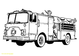 Free Fire Truck Coloring Pages To Print With Free Fire Truck
