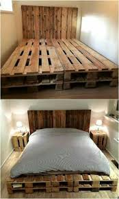 pallet bedroom furniture. Simple Furniture Now Come To An Idea Of Creating A Bed With Pallets The Tall Headboard  Is Simple But Unique Because Headboard Available In  To Pallet Bedroom Furniture B