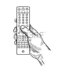 tv remote clipart black and white. hand-drawn tv remote control isolated on white background vector tv clipart black and t