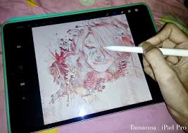 Drawing On Ipad Pro Drawing Tamannas Portrait On Procreate Apple Ipad Pro 10