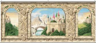 castle stone wall wall mural minute
